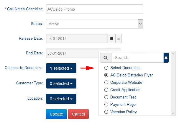 Checklist Document Desktop
